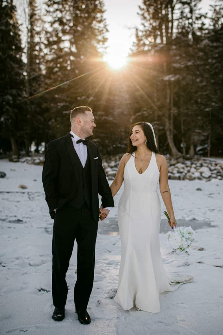 Lake-Minnewanka-Winter-Elopement