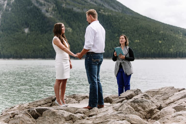 Banff Weddings at Lake Minnewanka